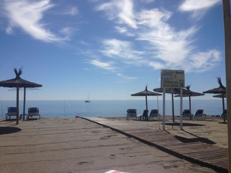 View from Manilva Beach Bar