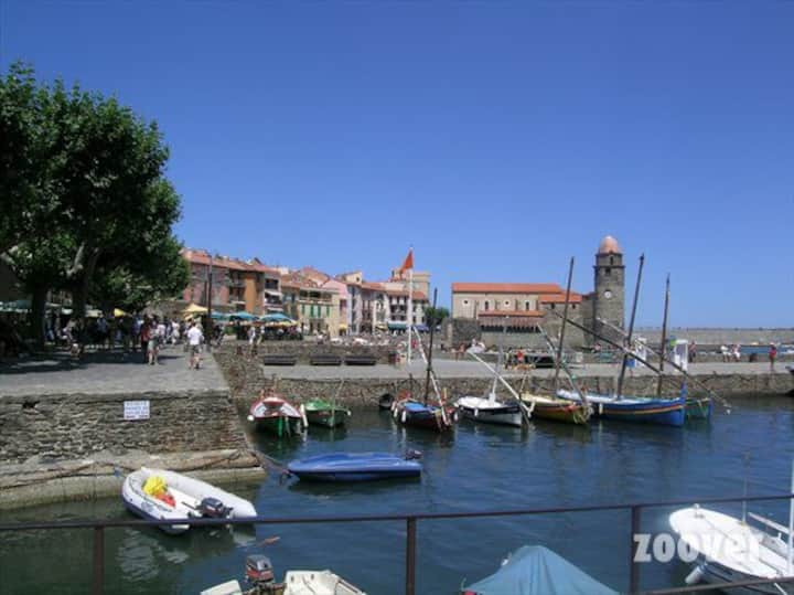 Cool apartment in charming Collioure