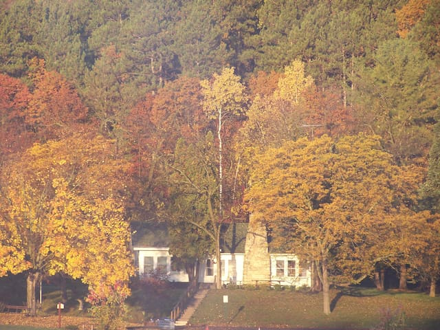 Cottage during fall