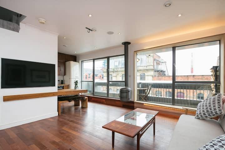 Boutique city centre penthouse apartment.