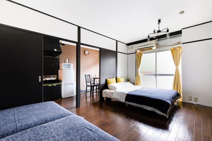 3 minTennoji Station 1LDK40㎡ design room☆Wi-Fi☆203