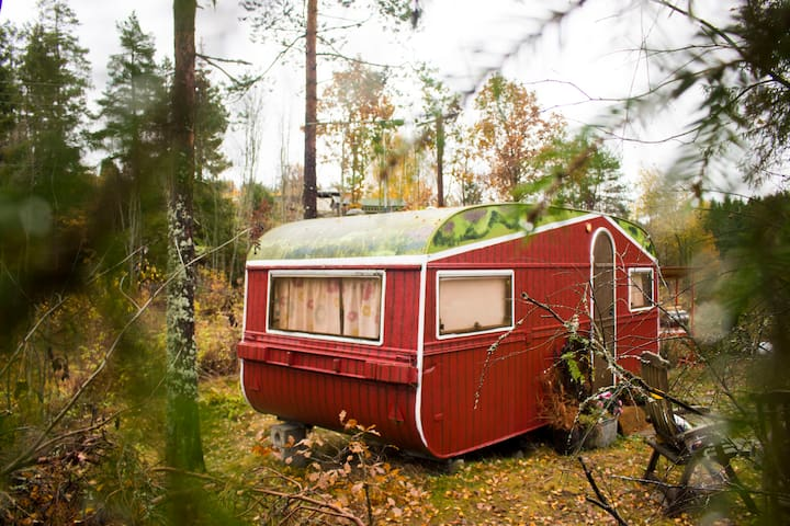 The Little Red Cabin in the Forest - Vestby - Apartmen