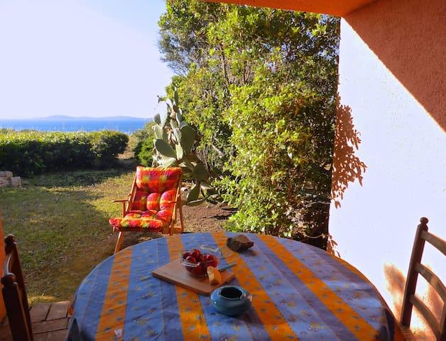 The sea in front of you.  Baia Sardinia.