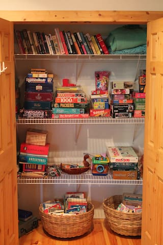 Even a closet full of puzzles and games.  Just in case you get a rainy day.