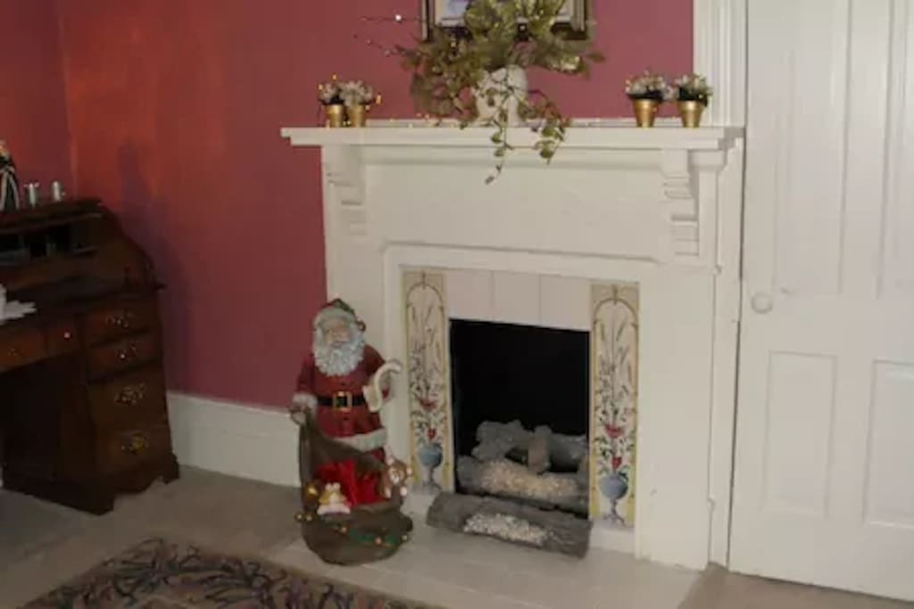 Fireplace in Pink Room