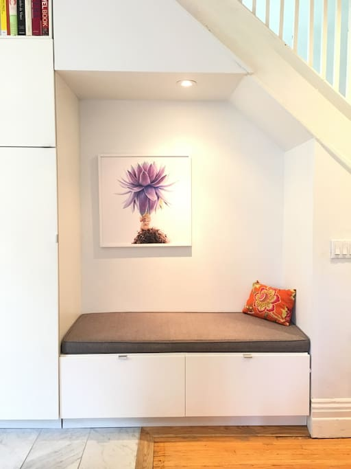 Reading nook off the kitchen