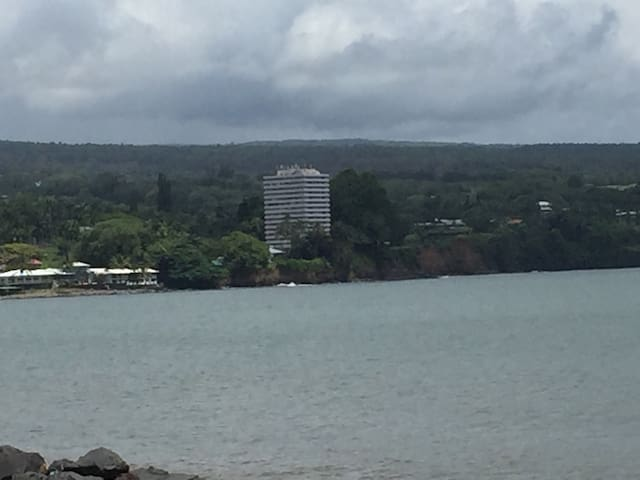 2 bedroom, 2 bath penthouse condo on Hilo bay.