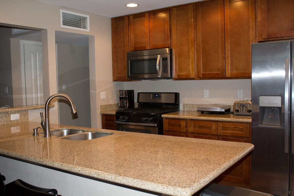 SHARED kitchen -each suite has assigned cabinet space and fridge shelf.
