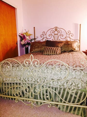 Comfy queen bed and a twin in this room. Or you can choose the king bed room across the hall