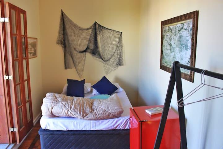 Hostel Maresias do Leme - Quarto duplo varanda/mar