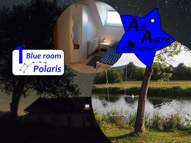 Blue room Polaris @ Ad Astra House by river Gacka