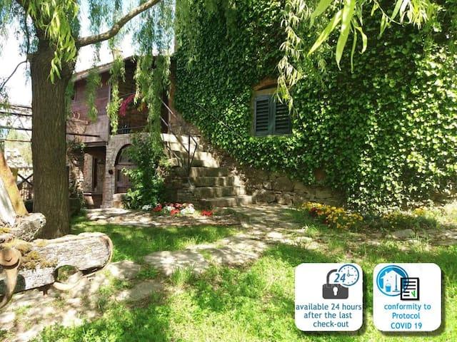 "typical farmhouse in tuscany ""La Tabaccaia"""