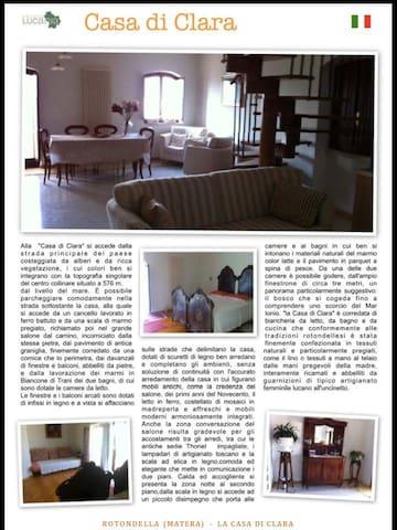 La bellissima casa di Clara - matera - House