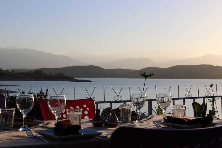 Auberge au bord du lac à 20 min de Marrakech