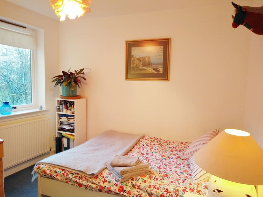 Guest's room with one double bed.