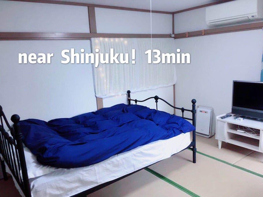 总面积23平米1K大房间