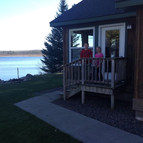 Cabin 1 has beautiful lake view.  Very quiet, peaceful place to relax.