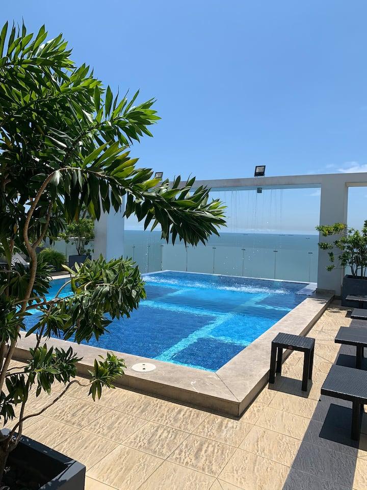 Exclusivo apartamento con vista al océano