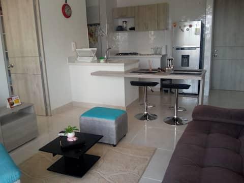 Espectacular apartamento bien amoblado y cómodo.