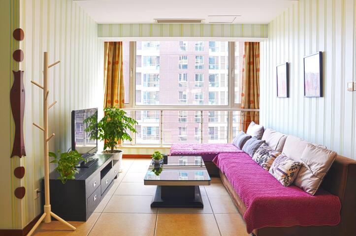 长风街天美 北美新天地 豪华2室2厅家庭套房 - Taiyuan - Apartamento