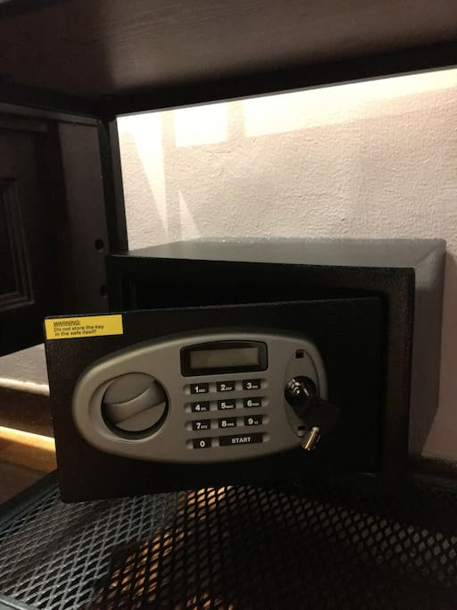 A Yale safe in your room for your personal use