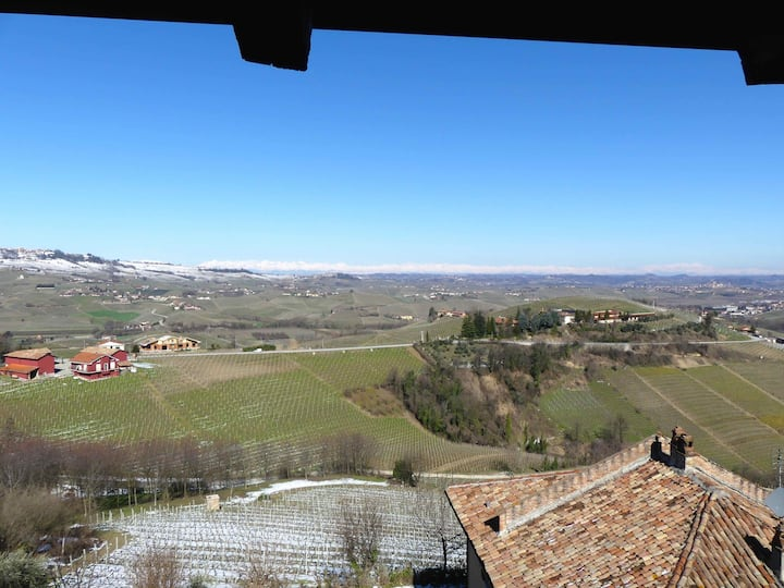 Great views in lovely and quiete village