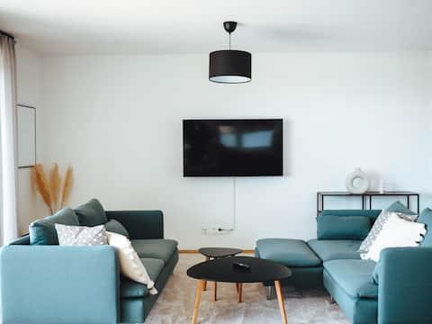 Seeblick & Terrasse! Moderne Ferienwohnung 96qm