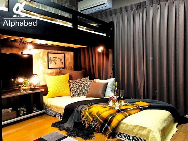 ヨーロピアン・クラシックなお部屋。大人っぽい雰囲気のお部屋で素敵な時間をお過ごしください。