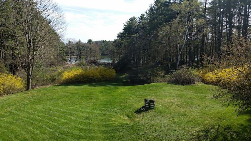 Deck View of backyard