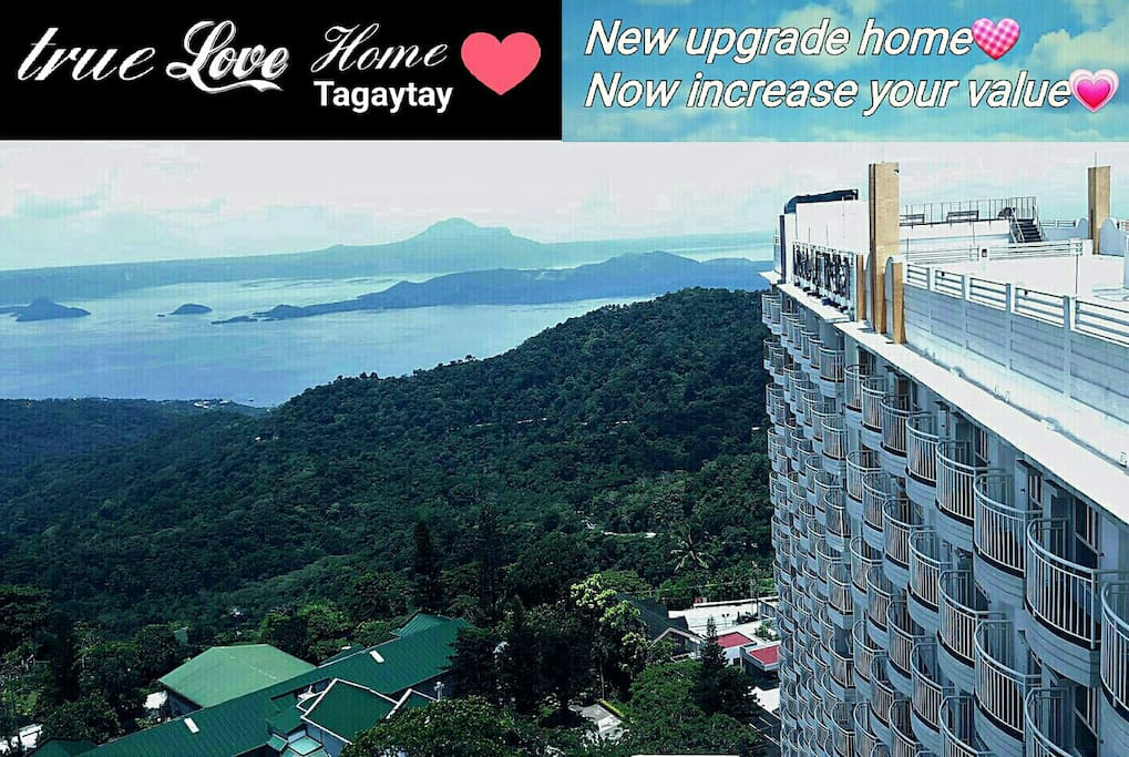 My place is Cityland prime condo with Panoramic Great View of Taal lake on 24F on ROOF-TOP