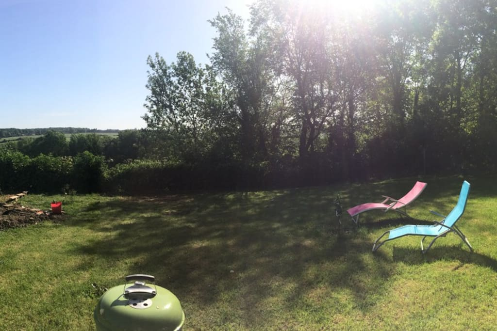 la vue du jardin sur Gisors