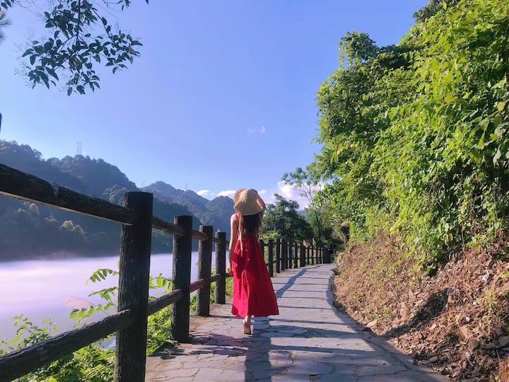 东江湖别墅民宿客栈(大双床)-离景区近,老板厨艺好,更有免费的自助早餐