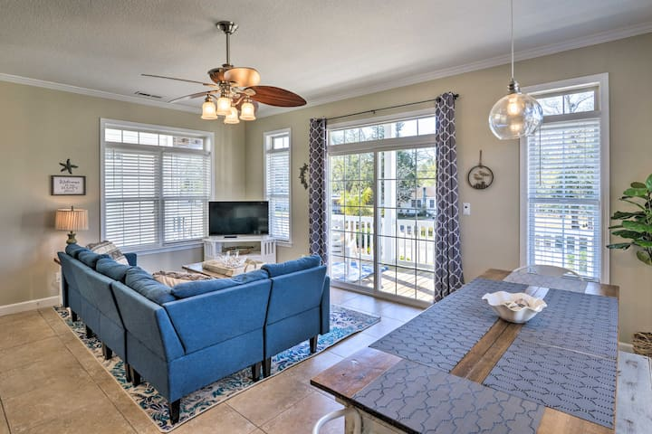 NEW! Bright Beach House w/ Pool < 1 Mile to Ocean!
