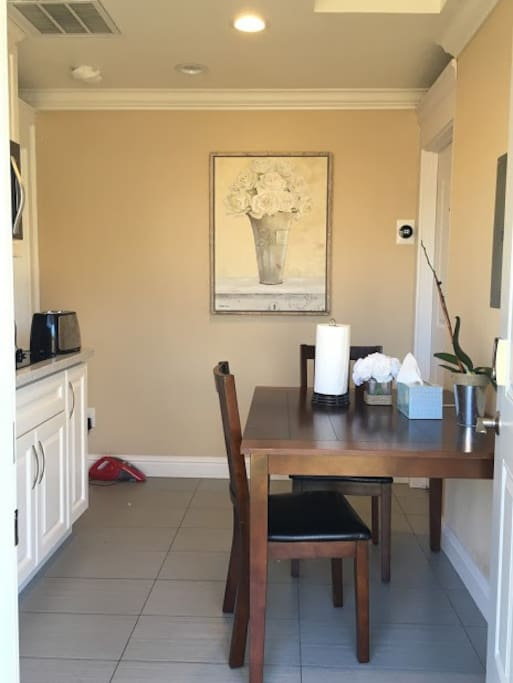 Shared Dinette table