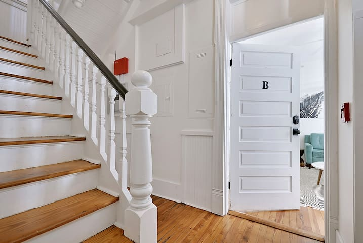 Unit B Entryway & Stairs to Unit C