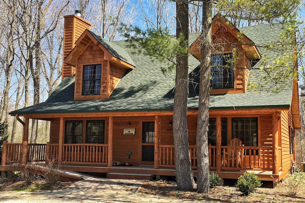 Lonnhuset Lodge Luxury Cabin W Pool Cottages For Rent In Saugatuck Michigan United States
