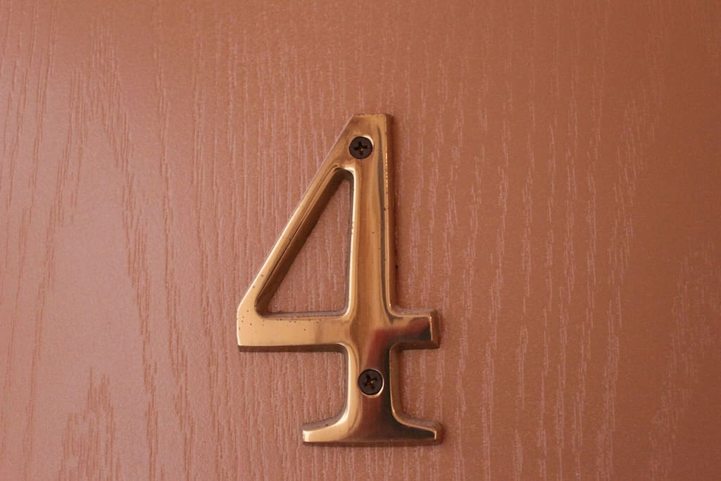 Numbers are on the doors so you can easily find your room