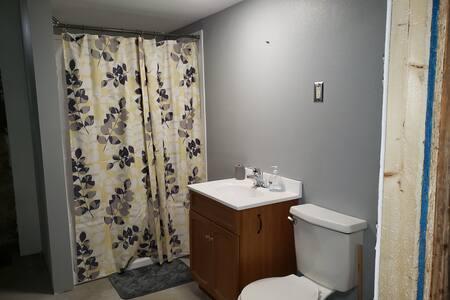 One bedroom,  one bathroom downstairs basement
