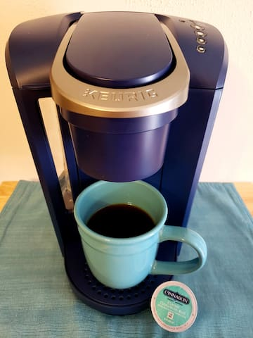 Keurig coffee maker and you can choose your favorite flavor!