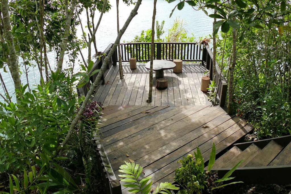 Main Building's deck