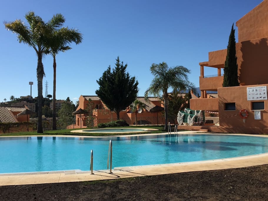 One of the 4 different Community Swimming Pools