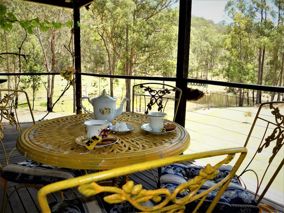Peace and tranquillity over a morning tea