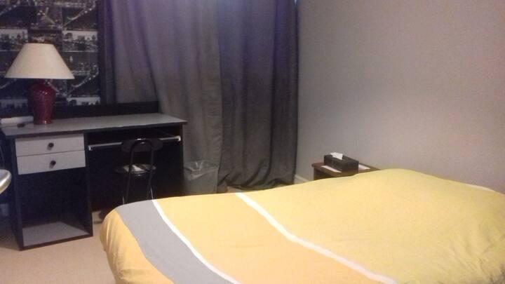 Chambre privée climatisée dans appartement