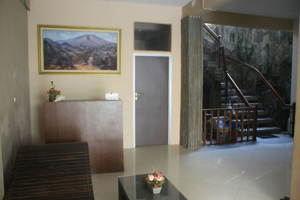 our humble reception area