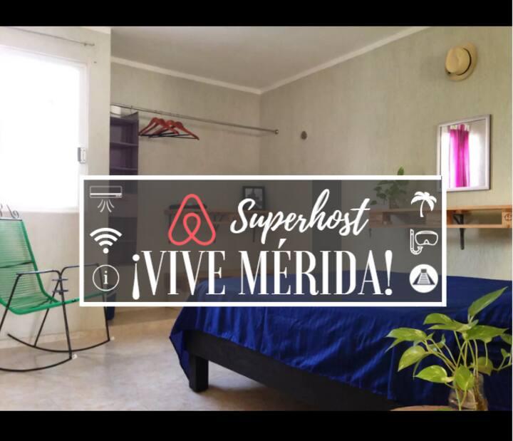 BEACH & CENOTE 15 min | WiFi, A/C | Cozy room