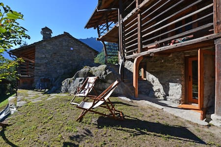 Spacious apartment in original Chalet,  2 min/ ski - Alagna Valsesia - Apartamento