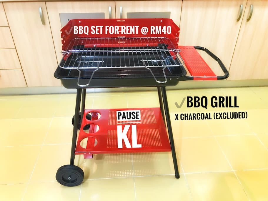 BBQ set for rent @RM40