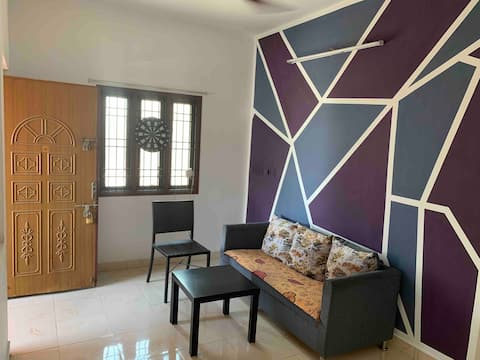 Private 1 bhk with basic amenities for lovely stay