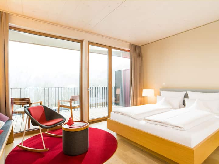 Hotel bora HotSpaResort, (Radolfzell am Bodensee), Panorama Zimmer, 24 m²