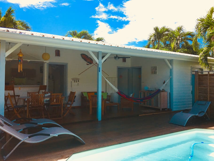 Bungalow tiare priv e bungalows for rent - Piscine saint francois nice ...